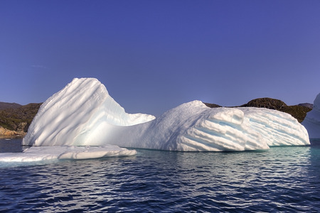 artic: iceberg in the coast of greenland