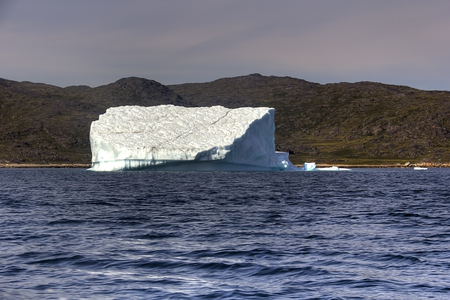 nordic country: iceberg in the coast of greenland