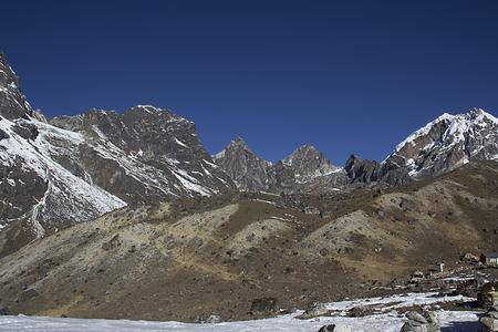 serac: landscape of himalayas Stock Photo