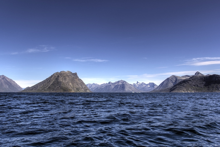 artic: landscape of the coast of greenland