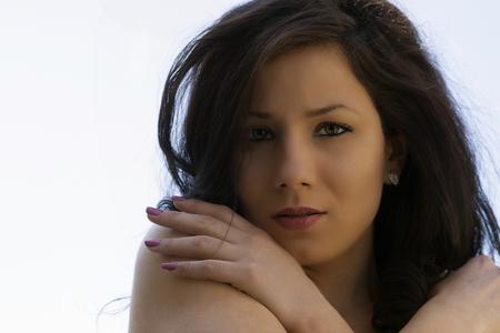 provocative women: portrait of pretty girl Stock Photo