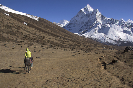 serac: landscape in the mountains of nepal