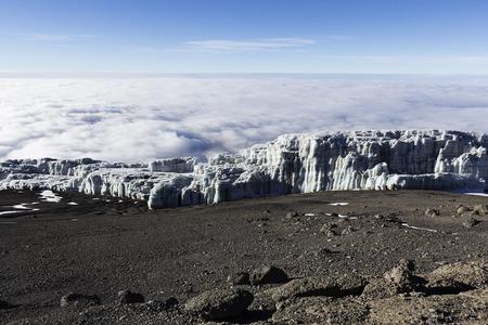 kilimanjaro: Landscape on top of kilimanjaro Stock Photo