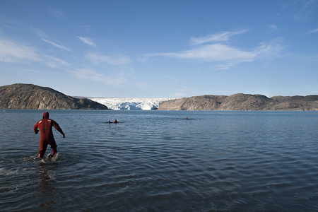 greenland: swimming in south greenland