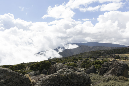 extreme terrain: landscape of kilimanjaro
