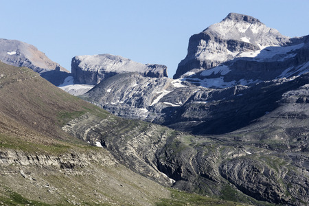 perdido: summit of pyrenees Stock Photo