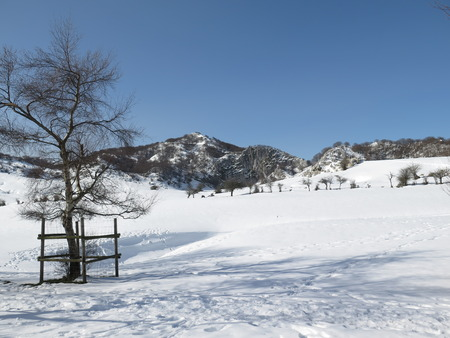 vizcaya: mount gorbea in winter Stock Photo