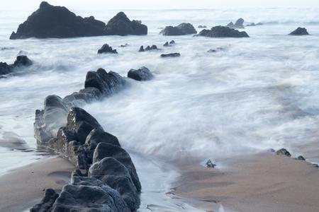 rocks in the coast of bizkaia