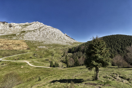landscape in the mounts of bizkaia Stock Photo