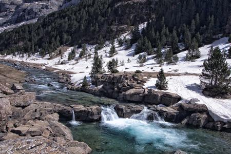 perdido: waterfall in spanish national park Stock Photo