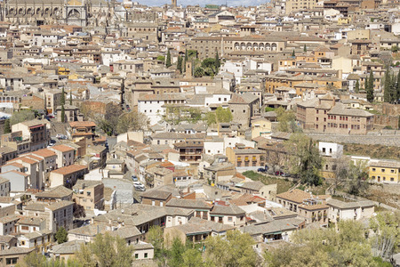 castilla: panoramic of the city of toledo in spain