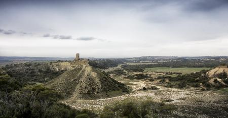 landscape in the desert in spain Banco de Imagens