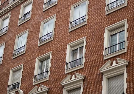 facade of beauty building Stock Photo