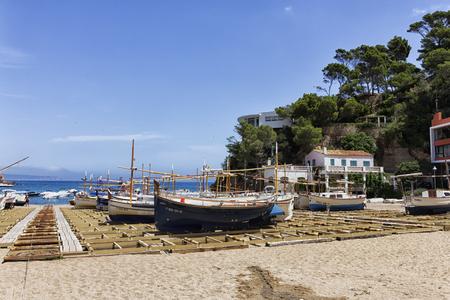 seascape in the coast of girona Editorial
