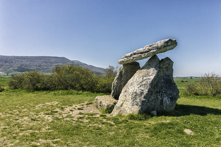 ancient dolmen in basque country