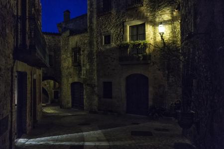 view of pals at night
