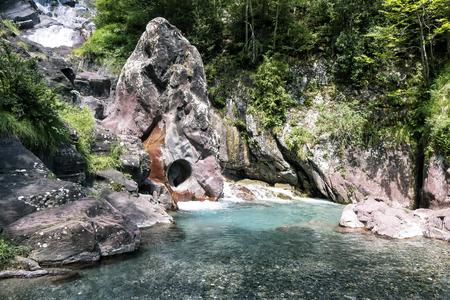 river landscape in the mountains Standard-Bild