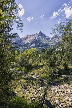 landscape at the pyrenees Фото со стока