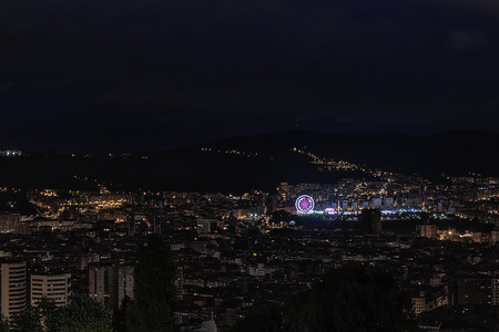 bilbao at night