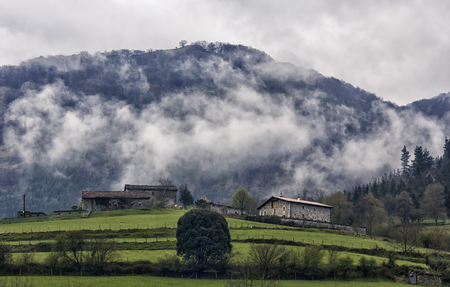 landscape of the mountains of basque country