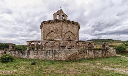 view of santa maria de eunate Banque d'images
