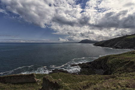 panoramic of the coast in bizkaia