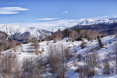 snowy landscape at pyrenees