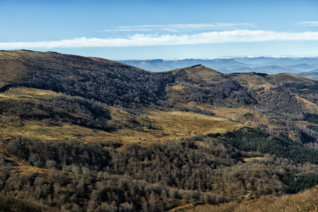 landscape in the mountains of basque country