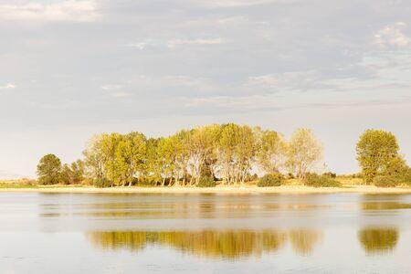 beauty scene in a lake in spain