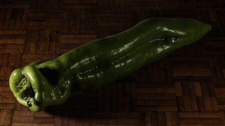 green pepper in a table Reklamní fotografie