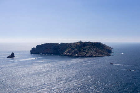view of the medas islands in the coast of spain