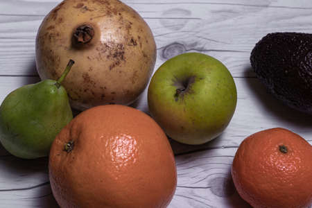 some fruits over a table