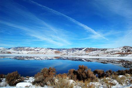 mesa: Blue Mesa Reservoir Colorado in Winter