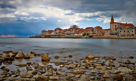 Small Croatian Town Umag Stock Photo