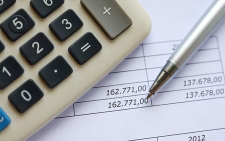 financial figures: Financial figures Stock Photo