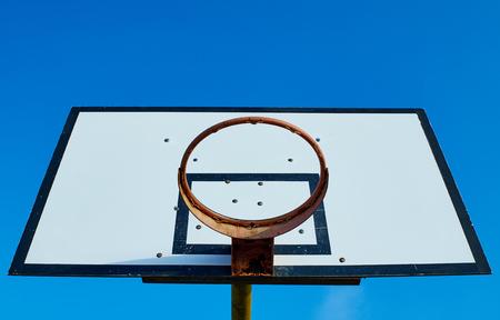 rim: Old, rusty basketball rim