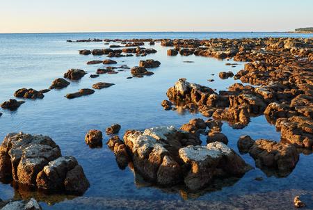 croatian: Croatian rocky shore Stock Photo