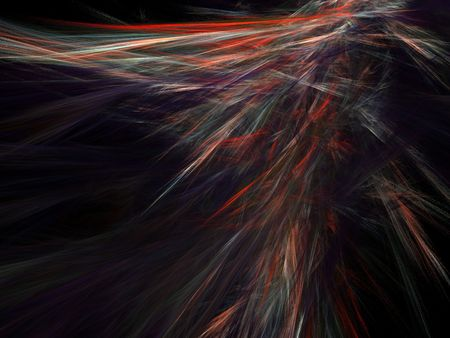 abstract light waves on black background Stock Photo
