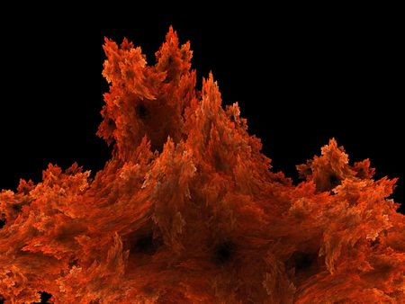 orange flame, as abstract background