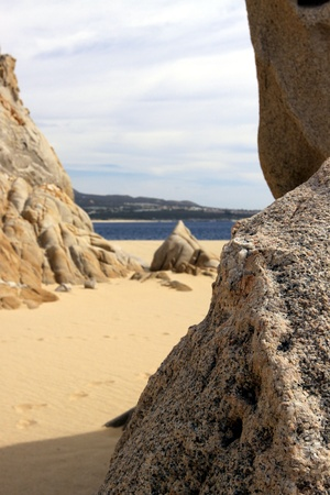 rock formation: Ocean side rock formation Cabo San Lucas, Mexico Stock Photo