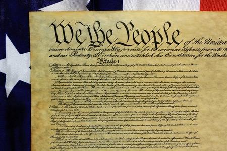 Preambule van de Grondwet van de Verenigde Staten van Amerika Stockfoto - 33864225