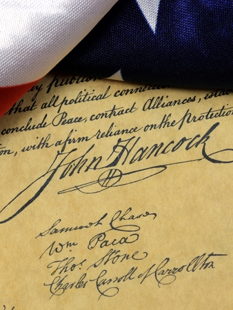 preamble: Preamble to the Constitution of the United States of America with John Hancock\\
