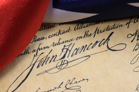 john hancock: Preamble to the Constitution of the United States of America with John Hancock\\