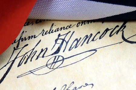 Preamble to the Constitution of the United States of America with John Hancock\\\\