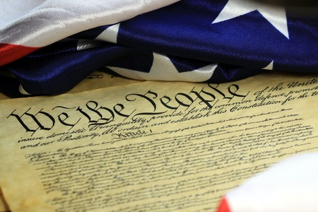 preamble: Preamble to the Constitution of United States Historical Document - We The People Bill of Rights Stock Photo