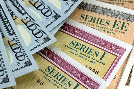 United States Savings Bonds with American Currency - Financial Security photo