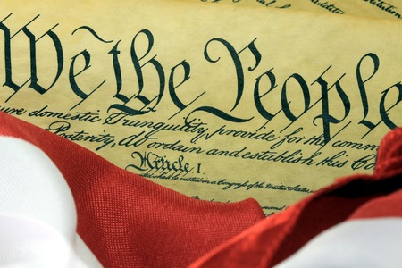 we: US Constitution - We The People Stock Photo