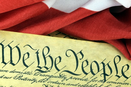 preamble: US Constitution - We The People Stock Photo