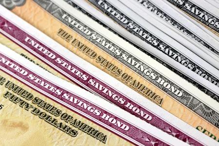treasury: United States Treasury Savings Bonds Financial Security concept