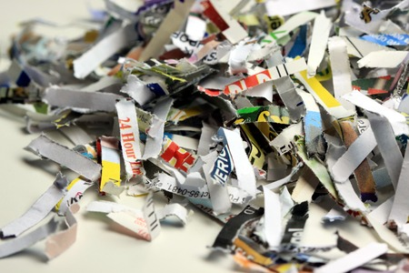shredded: Shredded Documents Business Security Background Recycling Concept